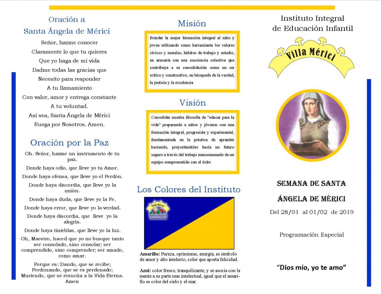 Semana de Santa Ángela de Mérici