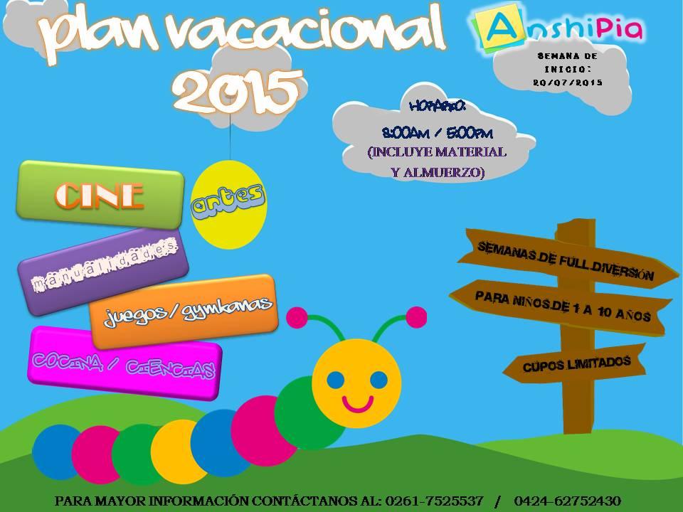 Plan Vacacional 2015 Anshipia